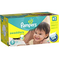 Pampers Swaddlers Diapers Economy Pack Plus Size 5 (124 Count)