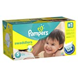 Amazon Price History for:Pampers Swaddlers Diapers Size 5 Economy Pack Plus 124 Count (Packaging May Vary)