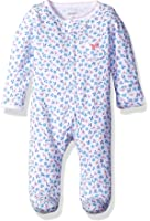 Carter's Baby Girls' Footie (115g064), Floral, New Born