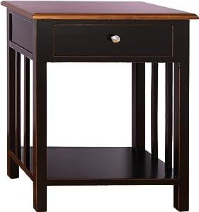 Porthos Home Tonality Designs Emerson 1 Drawer Nightstand, Black