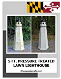 5 ft. Treated Lumber Lawn Lighthouse Woodworking Plans. DIY Instruction guide includes photos at every step.