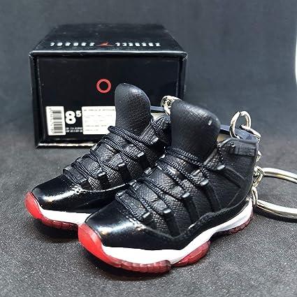6dcc189b30f8 Amazon.com  Pair Air Jordan XI 11 Retro Bred Black Red OG Sneakers Shoes 3D  Keychain 1 6 Figure + Shoe Box  Everything Else