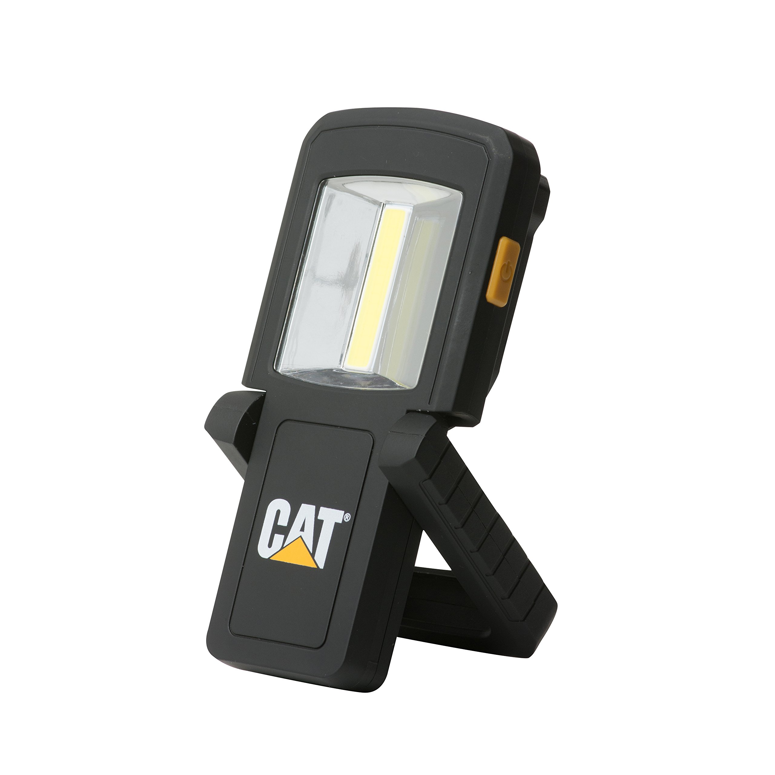 Cat CT3510 Dual Beam Work Light – 165 Lumen COB LED Front Flood Panel, 50 Lumen Top Beam Hands-Free Light, Black