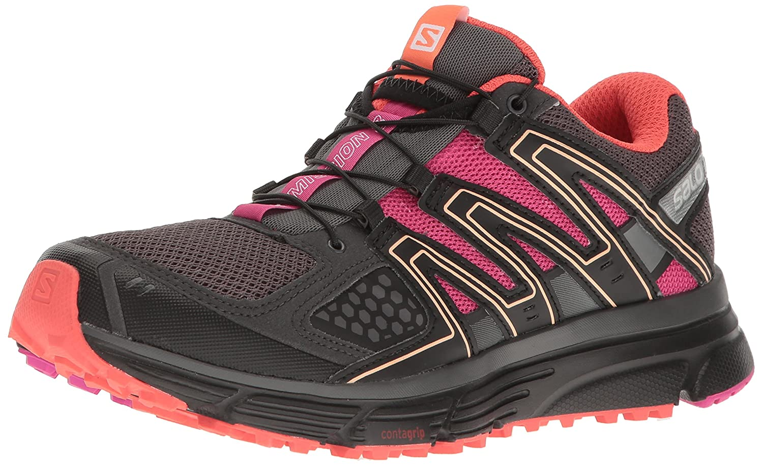 Salomon Women's X-Mission 3 W-w B01HD210UQ 6 B(M) US|Magnet/Black/Rose Violet