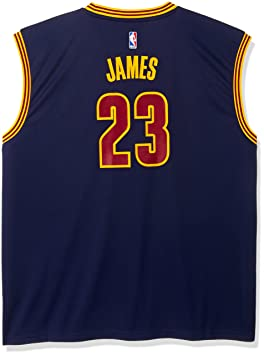 newest 68849 436a3 NBA Cleveland Cavaliers LeBron James #23 Men's Replica ...