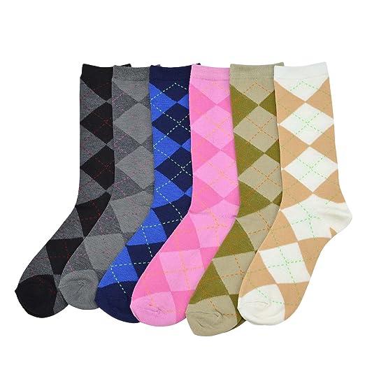teehee Mujer Dama Value 6-Pack calcetines, Argyle, Nordic, diseño de rayas, diseño de flores, : Amazon.es: Ropa y accesorios