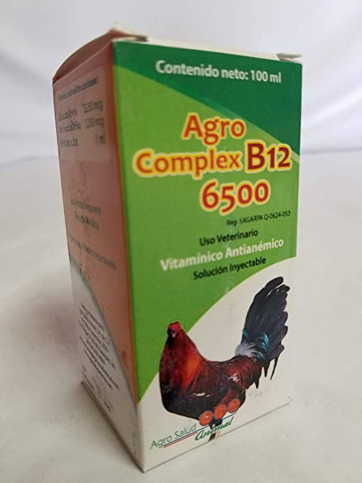 Agro Complex b12 6500 Vitamina 100ml Gamebirds Gallos Gamefowl