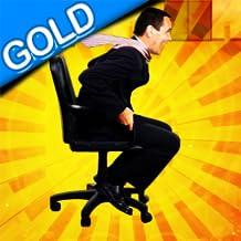 chaise de bureau course: le personnel roulant salle de pause l'action - édition d'or