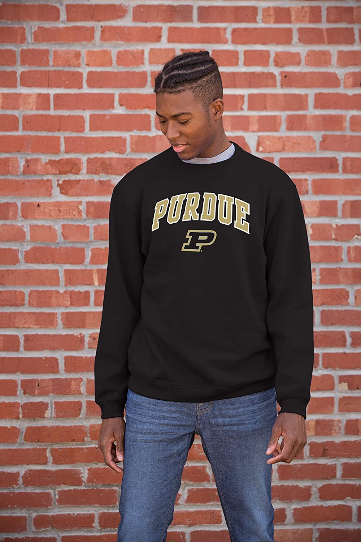Small NCAA Purdue Boilermakers Male Team Color Crewneck Sweatshirt Purdue Boilermakers Black