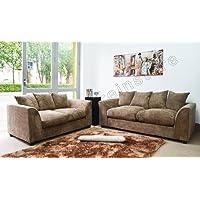 B U THE SOFA EXPERT Dylon Byron Caramel Mink Fabric Jumbo Cord Sofa Settee Couch 3+2 Seater