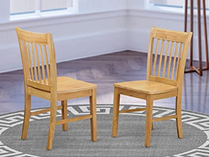 Norfolk Dining chair with Wood Seat -Oak Finish.