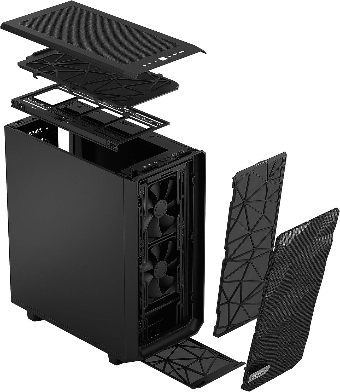 Fractal Design Meshify 2 Compact Black schwarz Flexibles ATX High-Airflow Mid Tower Computer Geh/äuse