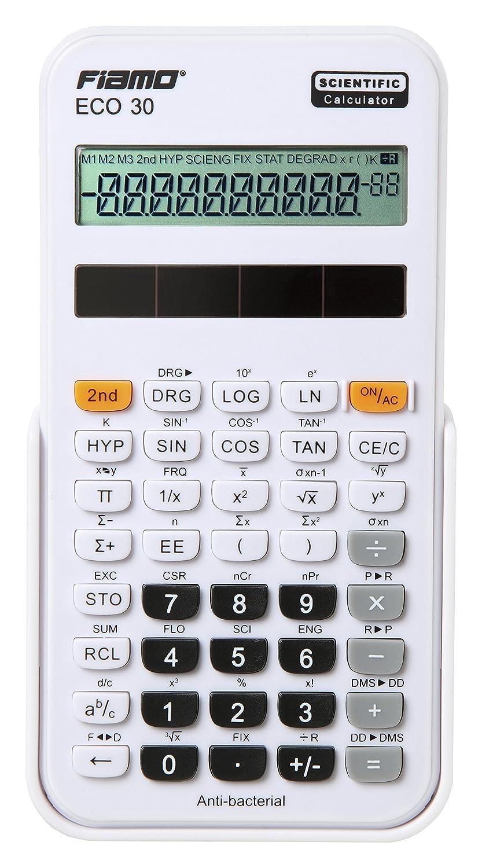ECO Fiamo 30-Calcolatrice scientifica, colore: bianco Rebell ECO 30 WH