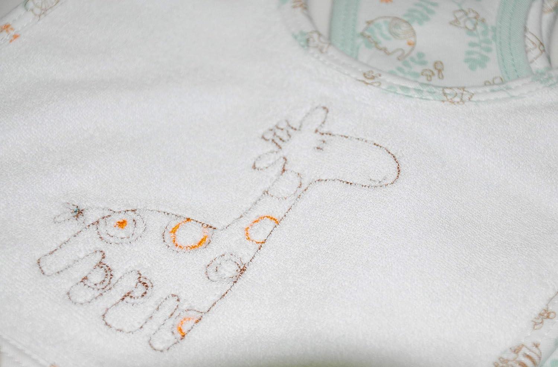 Soulwell Baby Lot de 6 bavoirs bio en tissu /éponge ultra doux et absorbant Multicouche Qualit/é sup/érieure certifi/é GOTS 15,2 x 20,3 cm