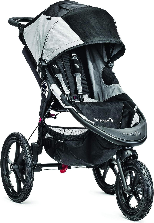 Baby Jogger Summit X3 - Cochecito para bebé, 3 ruedas, color negro/gris