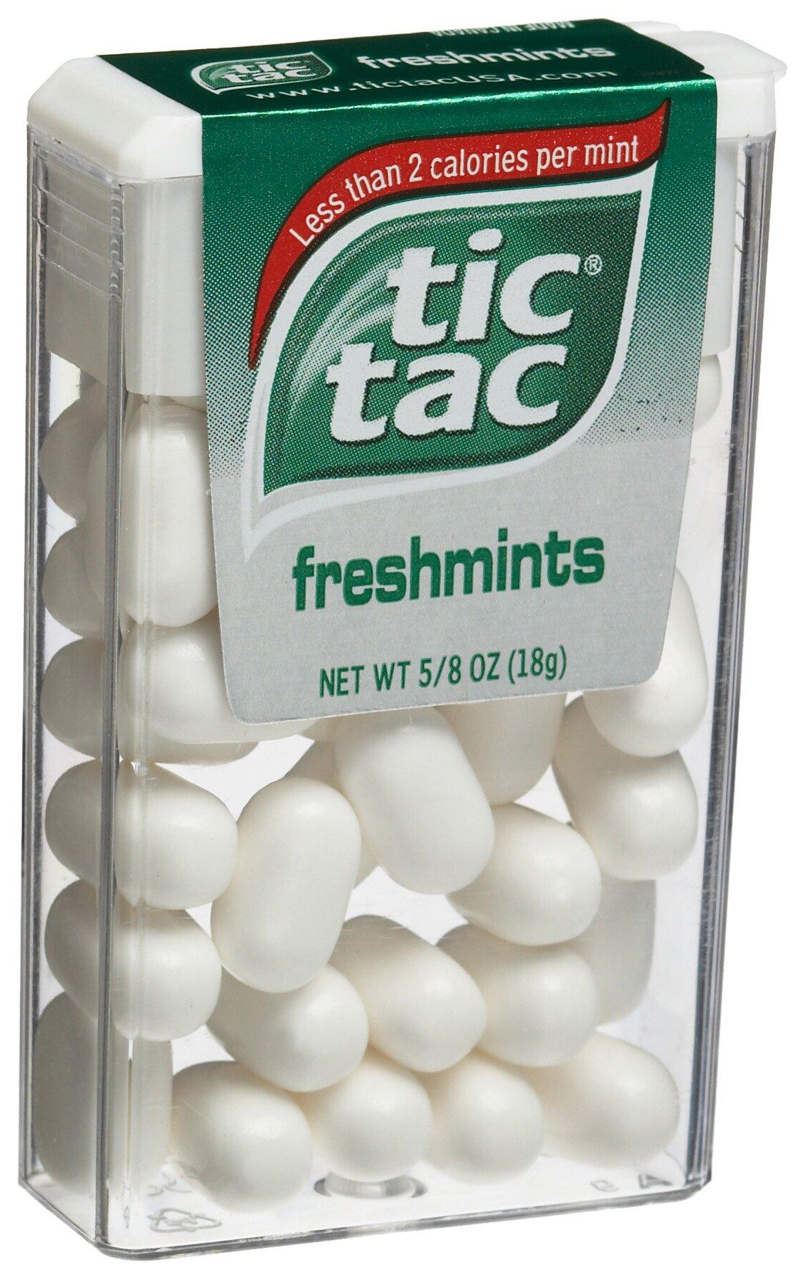 Tic Tac Freshmint Mints, 0.625-Ounce-Dispensers (Pack of 48)
