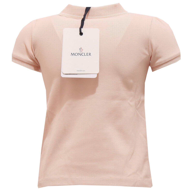 MONCLER 4361T Polo Bimba Maglia Rosa Antico Cotone t-Shirt Polo ...