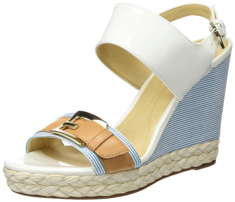 Geox Donna Janira E, EU Sandales Plateforme Blanc Femme, Bleu, 37 B001949G88 EU Blanc (White/Caramel) f02e95e - epictionpvp.space