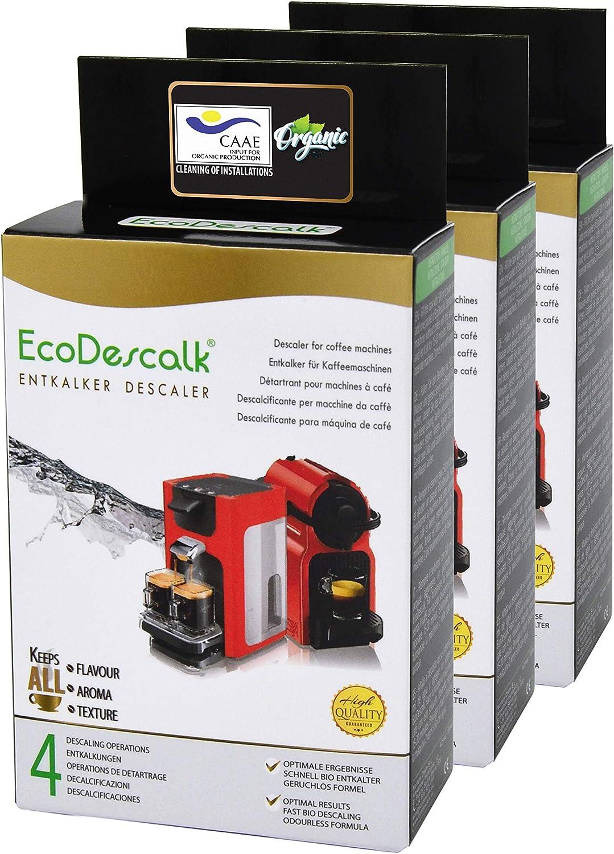 EcoDescalk Ecológico en Polvo, 3x4 Sobres. Descalcificador 100 ...