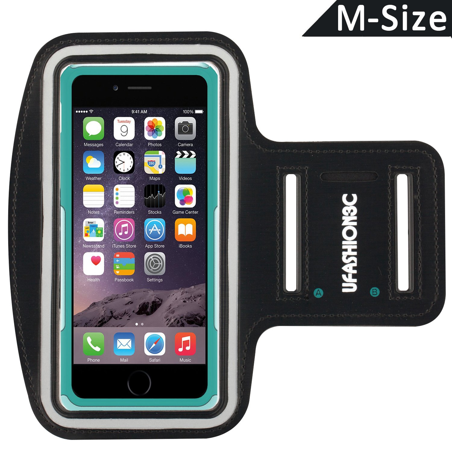 Amazon uFashion3C [M Size] Sports Armband for iPhone 6S Plus 6 Plus Samsung Galaxy Note 8 S8 S8 Plus S7 Edge Note 5 LG G6 G5 with OtterBox