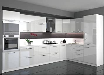 Küchen l form hochglanz  Küche L Form Hochglanz 3,40 m x 2,20 m mit E-Geräten ...