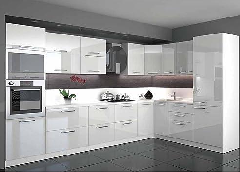 Küche L Form Hochglanz 3,40 M X 2,20 M Mit E-Geräten
