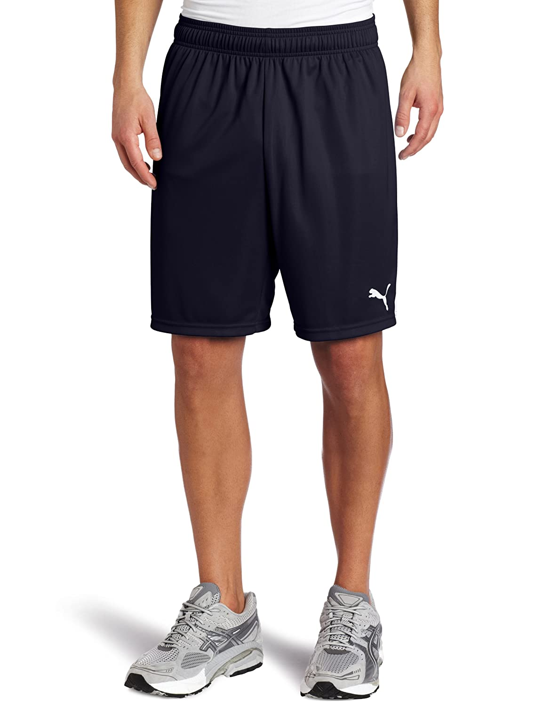 PUMA Men's Team Shorts without Inner Slip, Youth Medium, New Navy-Weiß
