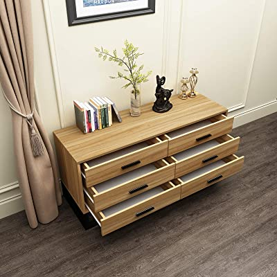 Buy Soges Premuim Standing Storage Cabinet With 6 Drawers Wood Dressers Drawer Chest Cabinet Console For Entryway Living Room Bedroom Tv Stand Organizer Side Board Buffet Cabinet Walnut Dx 548 N Online In Turkey