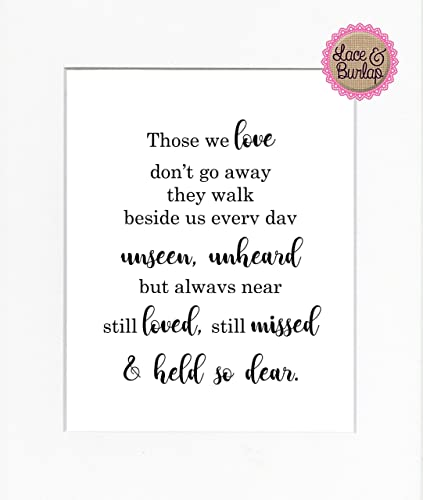 Amazoncom 8x10 Unframed Print Those We Love Dont Go Away They