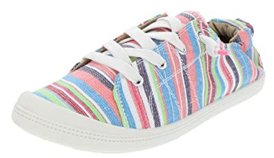 Rampage Women s Grateful Comfortable Slip On Sneaker Shoe with No-Tie Laces  and Cute Design c7290a583d91