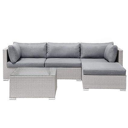 Strange Garden Sectional Sofa Square Coffee Table Beige Wicker Cjindustries Chair Design For Home Cjindustriesco