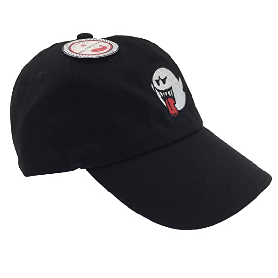 Ghost Hat Dad Hat Baseball Cap Embroidered Adjustable(Black) at Amazon Mens Clothing store: