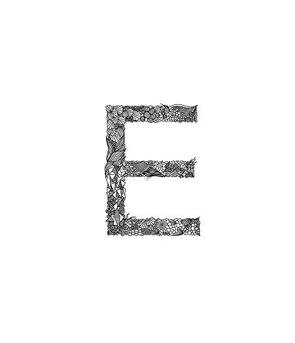 Letter Art Print.Amazon Com Doodle Alphabet Art Decor Letter E Artwork