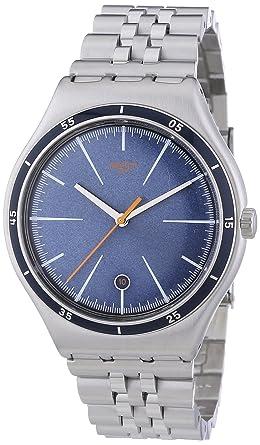 Swatch Irony Big Classic Star Chief - Reloj de cuarzo para hombre, con correa de acero inoxidable, color plateado: Amazon.es: Relojes