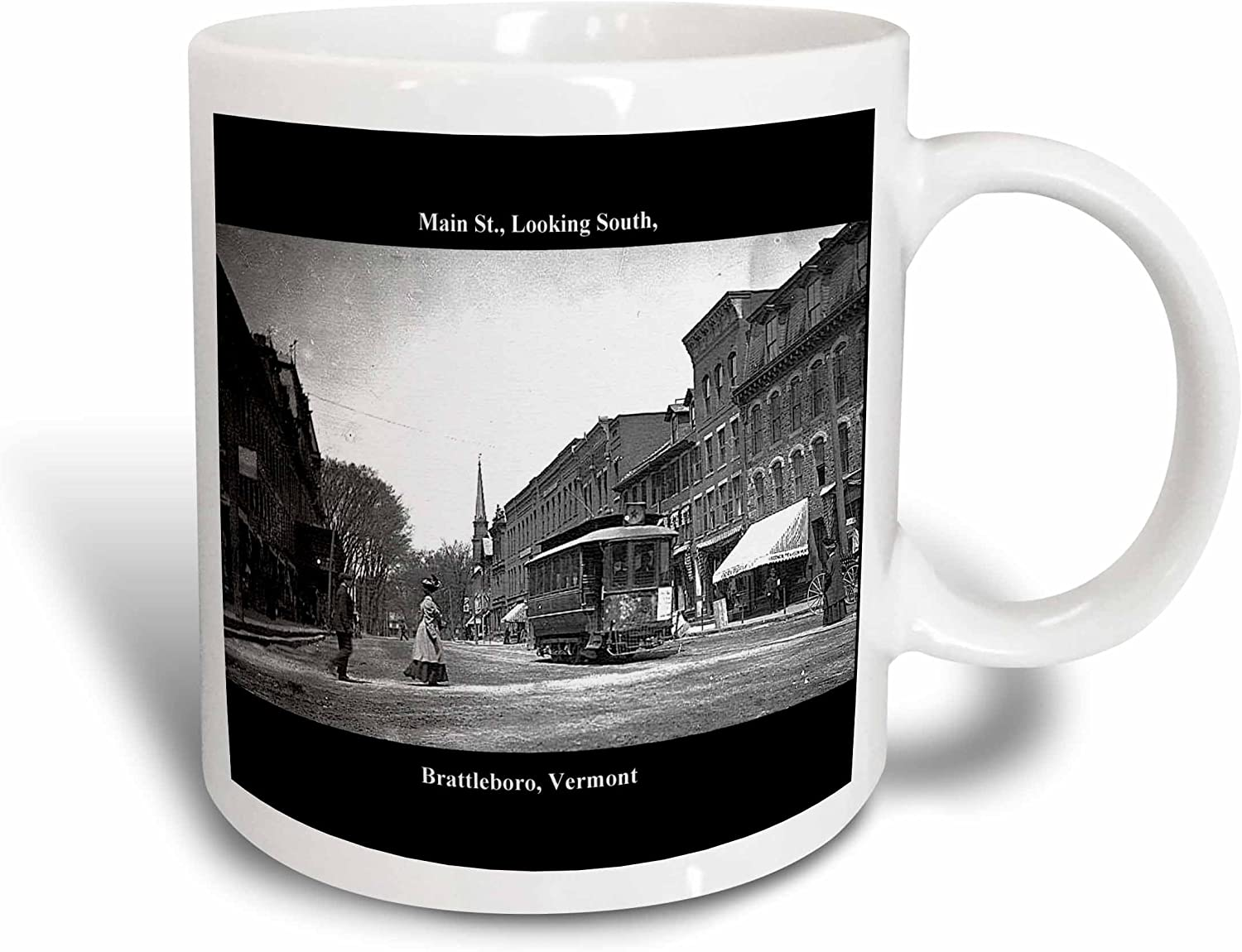 Amazon Com 3drose 130846 1 Main St Looking South Brattleboro Vt Vintage 1907 Mug 11 Oz Ceramic Kitchen Dining