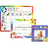 "Kenson Kids ""I Can Do It!"" Potty Chart Updated Toilet Training System! Includes Colorful Magnetic Chart, 30 Positive-Reinforcement Stars, Potty Training Book, Achievement Certificate, and Training Tips for Parents"