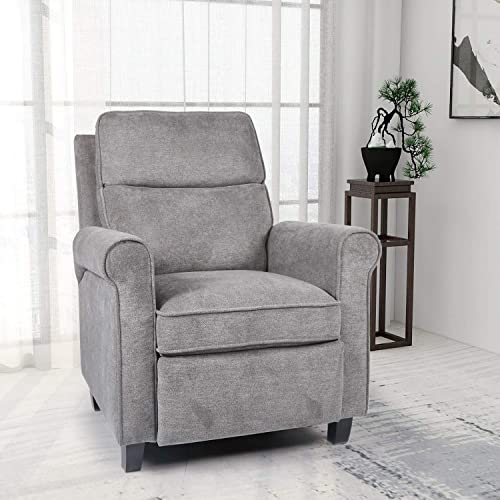 Push Back Recliner Chair Single Reclining Sofa Fabric Sofa Chair