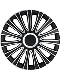 "Alpena 59916 Silver/Black 16"" Le Mans Wheel Cover Kit - Pack of 4"