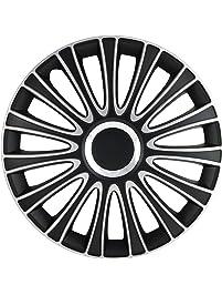"Alpena 59915 Silver/Black 15"" Le Mans Wheel Cover Kit - Pack of 4"