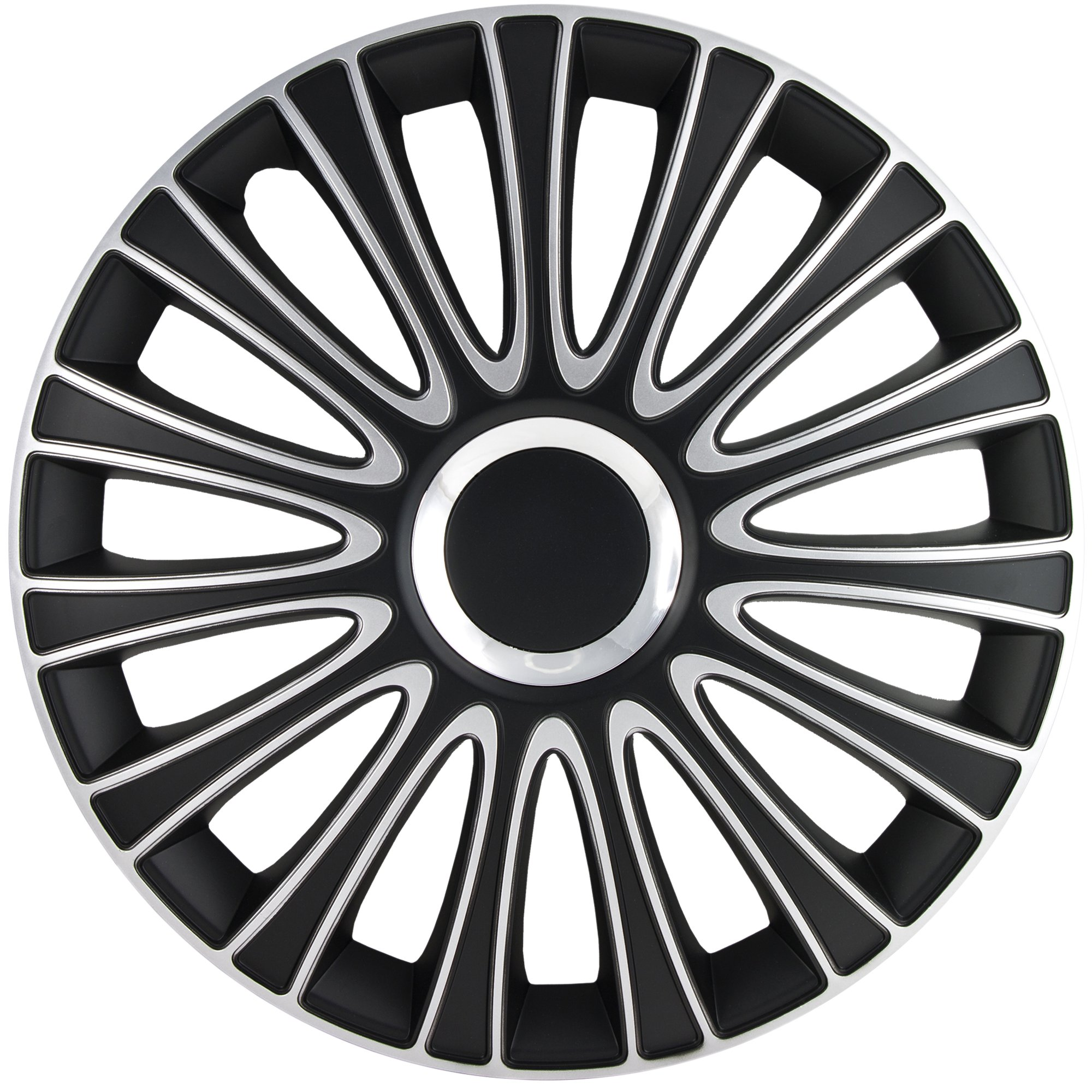 Alpena 59916 Le Mans Black-Silver Wheel Cover Kit - 16-Inches - Pack of 4