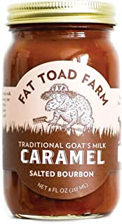 product image for Fat Toad Farm Traditional Goat's Milk Caramel Sauce, Salted Bourbon, 8fl oz Jar, Cajeta, Gluten Free