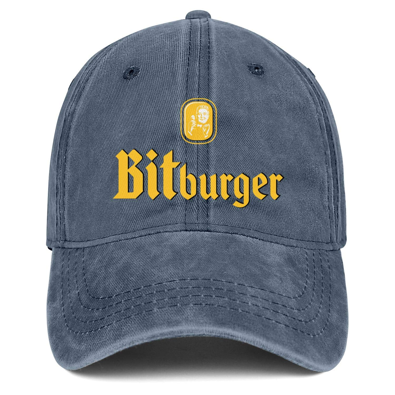 Bitburger Premium Beer Logo Mens Womens Denim Baseball Hat Adjustable Snapback Beach Cap