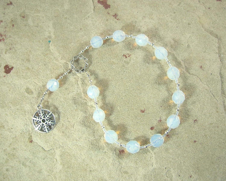 Chione Khione Pocket Prayer Beads: Greek Goddess of Snow Winter Goddess