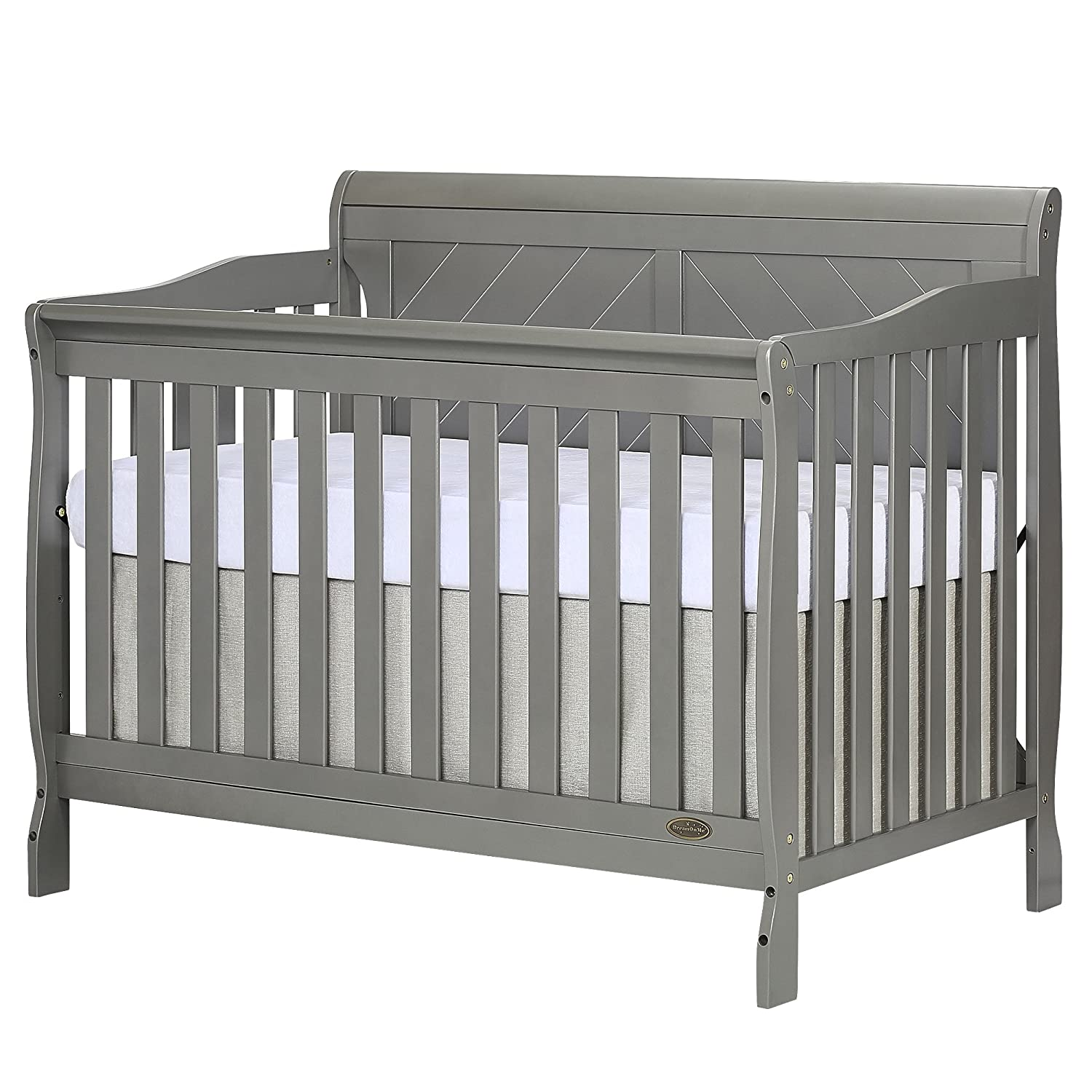 Dream On Me Ashton Full Panel Convertible 5-in-1 Crib, Storm Grey