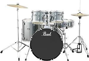 Pearl Roadshow 5-Piece Drum Set, Charcoal Metallic (RS525SC/C706)