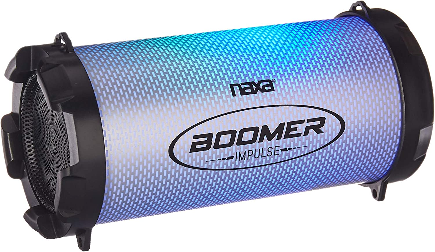 Connect Smartphones or Laptops NAXA Electronics NAS-3084 Boomer Impulse Wireless Bluetooth Boombox with LED Lights Tablets
