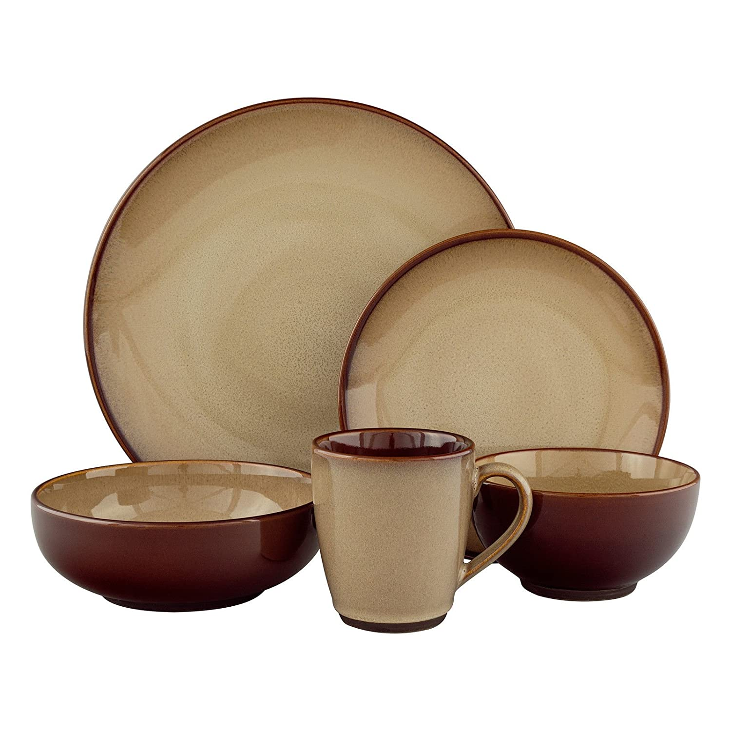 Sango 40-piece Nova Brown Stoneware Dinnerware Set Amazon.co.uk Kitchen \u0026 Home  sc 1 st  Amazon UK & Sango 40-piece Nova Brown Stoneware Dinnerware Set: Amazon.co.uk ...