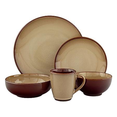 Sango 40-piece Nova Brown Stoneware Dinnerware Set  sc 1 st  Amazon UK & Sango 40-piece Nova Brown Stoneware Dinnerware Set: Amazon.co.uk ...