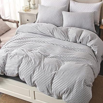 Amazon Com Pure Era Cotton Jersey Knit Duvet Cover Set 1 Comforter