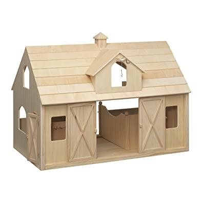 Breyer Traditional Deluxe Wood Horse Barn with Cupola Toy Model: Toys & Games